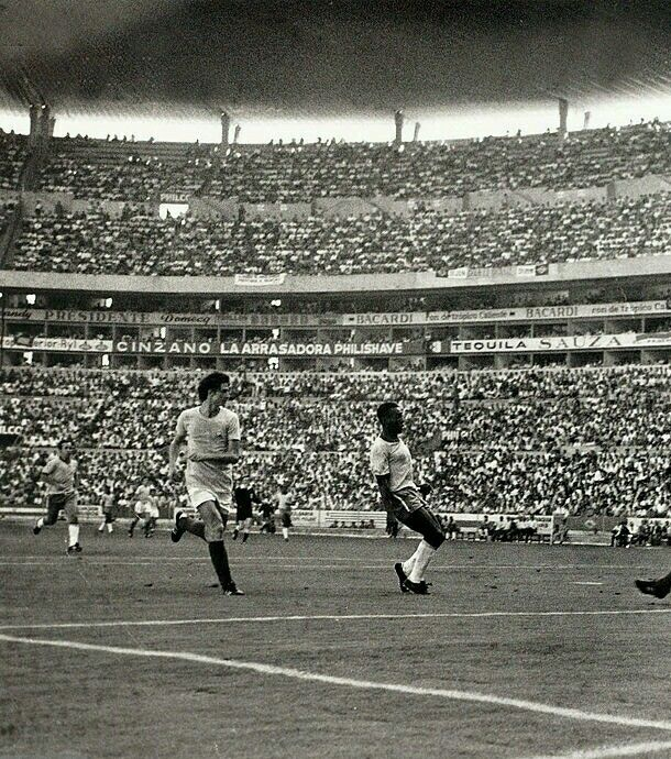 Brazil 3 Romania 2 in 1970 in Guadalajara. Pele was clean through and scored after 19 mins in Group 3 at the World Cup Finals.