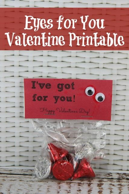 """""""I've Got Eyes For You"""" Valentine's Day Card Idea :: Free Printable"""