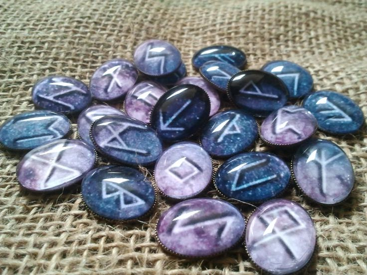 Elder Futhark Rune Set (Cosmic Futhark. Rune on the Milky Way) by RunicJewellery on Etsy