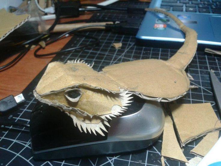 Бородатый дракон из бумагиObobrali.ru | Obobrali.ru