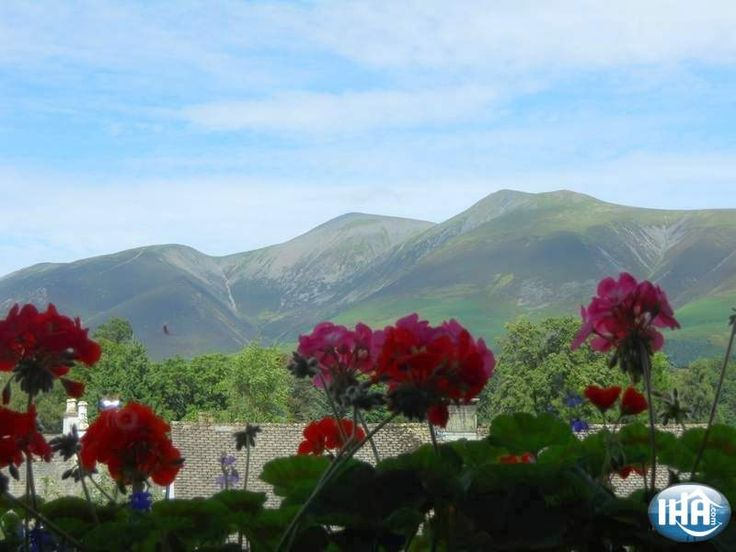 View from the bedroom Hedgehog Hill  Keswick Bed and Breakfast  Cumbria North West England