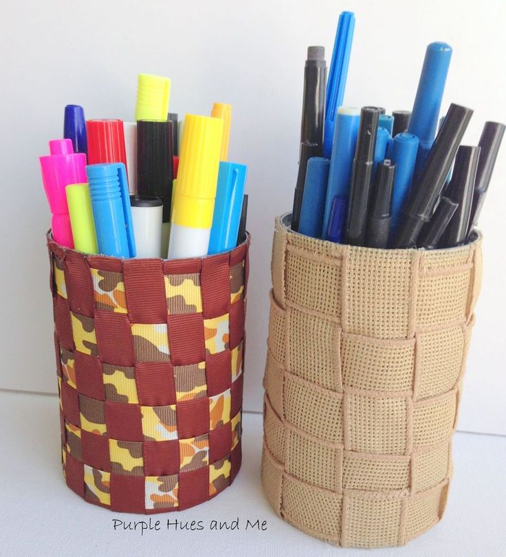How to Make Pen and Pencil Holders from Recycled Tin Cans ...