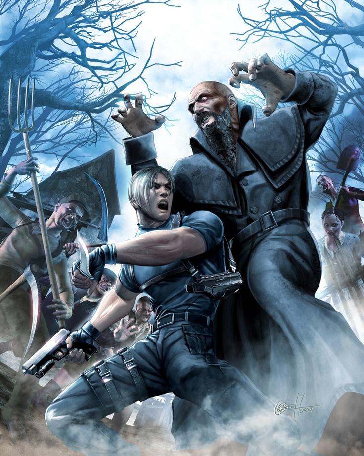 Resident Evil 4...¡pobrecillo!, menudo recibimiento recibe...