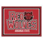 Ncaa - Arkansas State University Red 10 ft. x 8 ft. Indoor Rectangle Area Rug