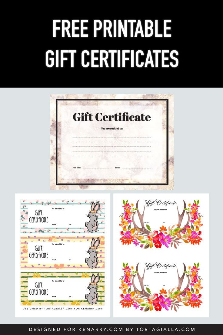 Free Printable Gift Certificates Printable Gift Certificate Free Printable Gift Certificates Free Printable Gifts