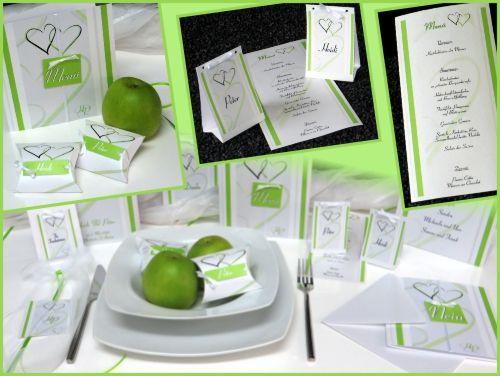 """Hochzeitskartenset """"Nein, ich will!"""" grün"""