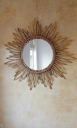 Cane Sun Mirror Plumo