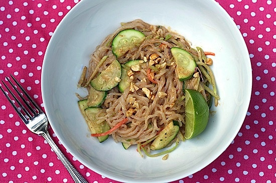 """Zero Calorie """"Nooodles"""" with Spicy Peanut Sauce… Recipe is for one serving. If I can't find these specific noodles, or Brandon isn't interested can sub another kind."""