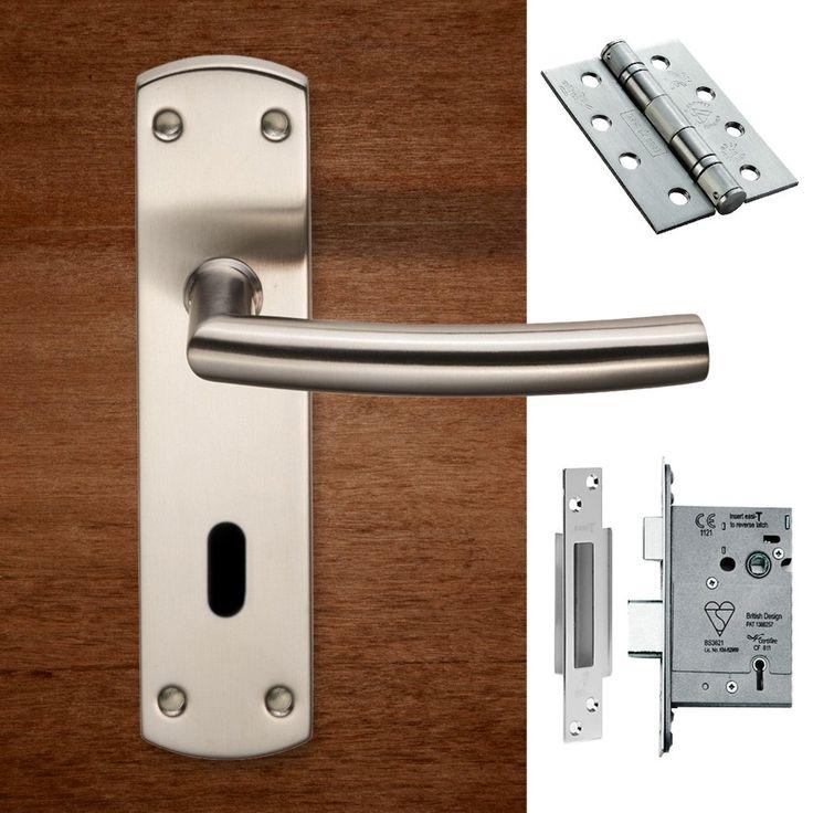 Steelworx CSLP1167P/SSS Arched Lever Lock Satin Stainless Steel Handle Pack. #doorhandle&lock #lever&lock&hinges #moderndoorhandlepack
