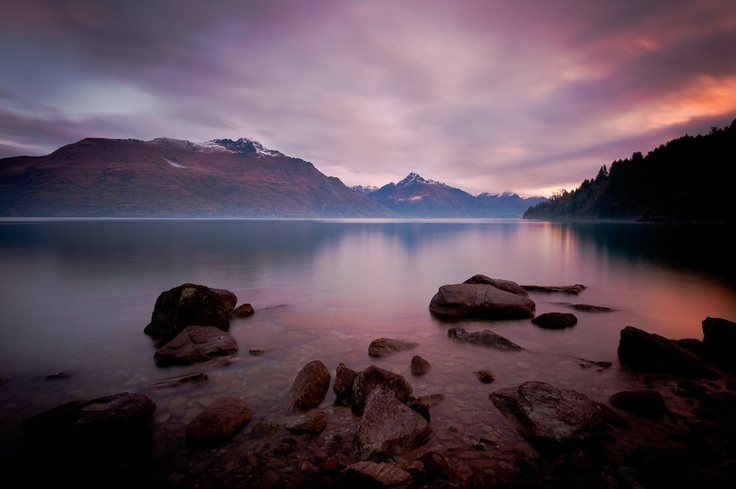 Lake Wakatipu, New Zealand.  www.MikeHollman.com
