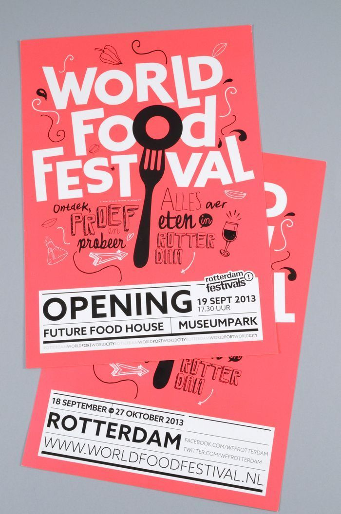 Rotterdam World Food Festival -- Event Poster Design Inspiration, Examples & Templates -- Event Poster Design Ideas & Templates