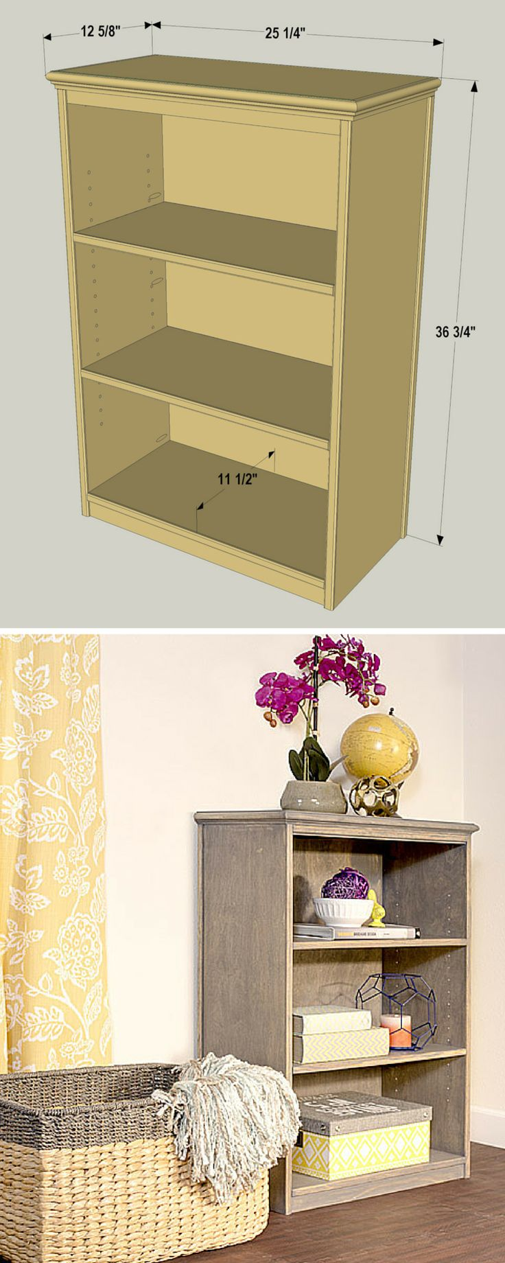 This compact bookcase offers a perfect solution whether you're looking for a place to keep your favorite books or you're seeking a place to display objects you love. Its compact size means you can fit it into almost any room, and the simple style means it will match a variety of decorating styles. FREE PLANS at buildsomething.com