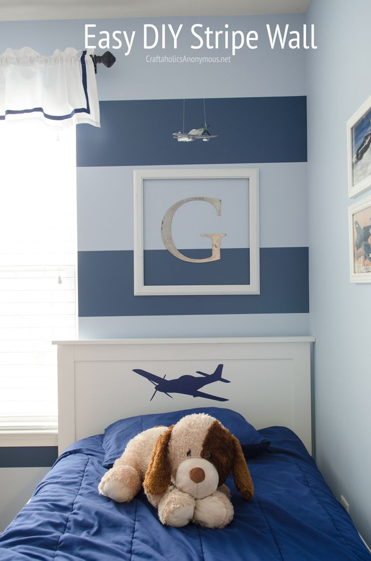 Easy DIY Stripe Wall Giveaway The