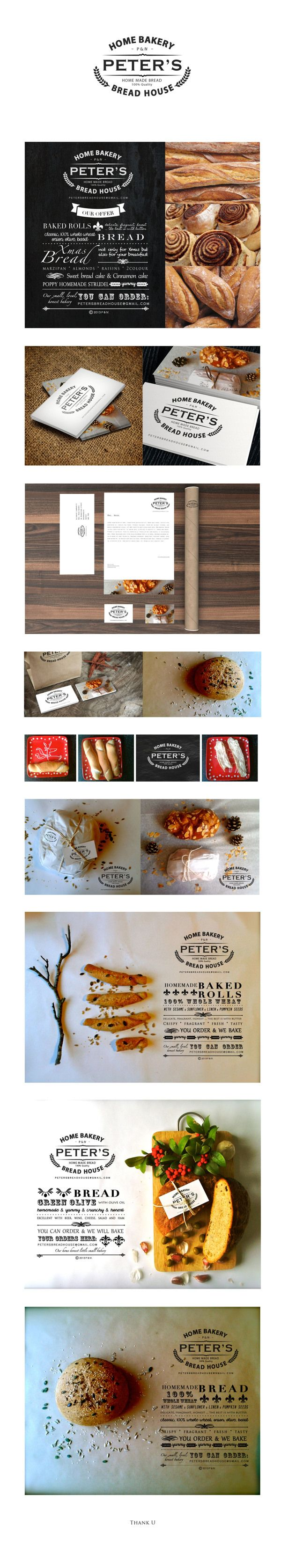 Peter's Bread House - our own little home bakery on Behance