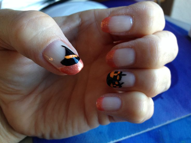 Halloween Manicure - Shellac | Nails | Pinterest