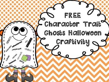 Students make a fun ghost craftivity while learning how to completment their classmates at the same time....BONUS!!!!Directions:Students cut out their ghost template and put them on their desks.  Then the kids go around the room (like Scoot) with their Positive Character Traits list (included) and write an adjective character trait about each classmate on each person's individual ghost.