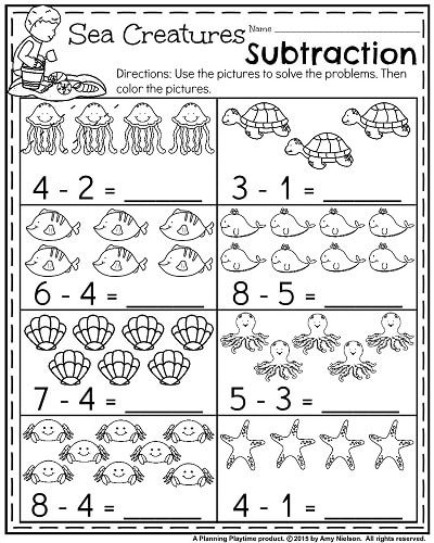 Summer Kindergarten Worksheets Kindergarten math