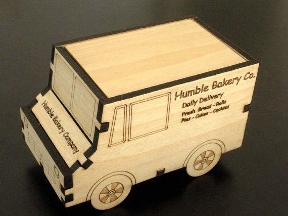 Bakery Delivery Truck Box by SpitFireLaser on Etsy
