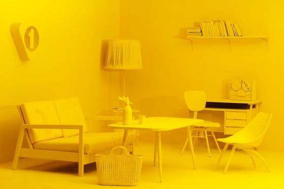 całe żółte :)