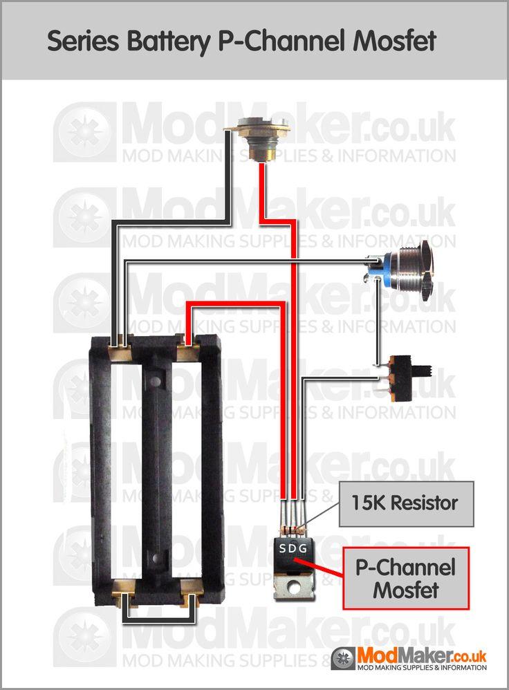 Series Battery PChannel Mosfet Wiring Diagram   Vaporized   Vape mods diy, Diy box mod, Vape box