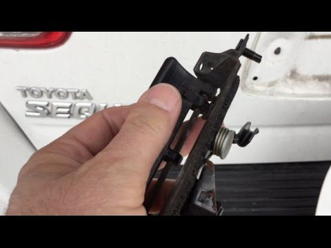 2005 Toyota Sequioa Rear Latch Replacement - YouTube
