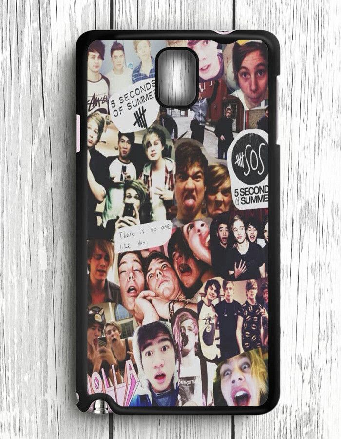 5 Second Of Summer Collage Art 5 SOS Music Samsung Galaxy Note 3 | Samsung Note 3 Case