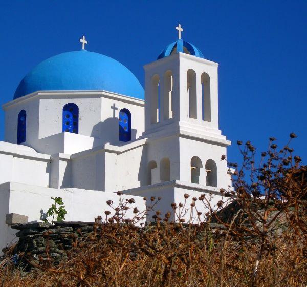 The church and the thorns, Folegandros island Greece