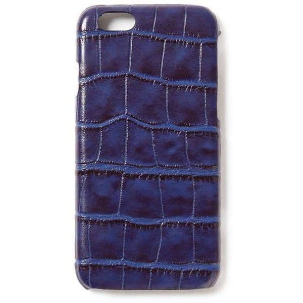 TOPMAN Blue Croc Effect iPhone 6 Case ($12) ❤ liked on Polyvore featuring men's fashion, men's accessories, men's tech accessories, blue and topman