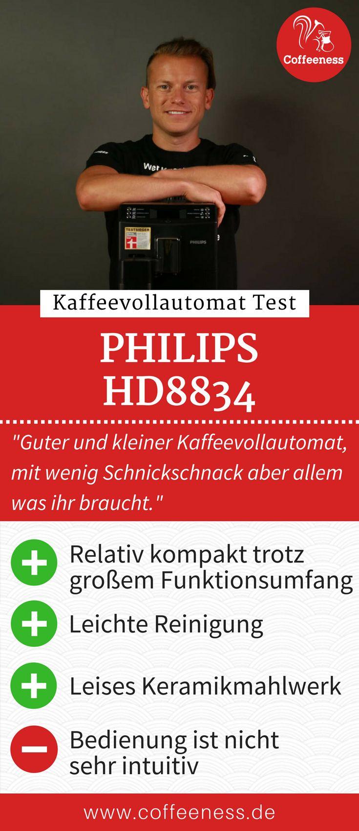 """Stiftung Warentest gibt diesem Kaffeevollautomaten das Urteil """"gut"""". Dem kann ich mich grundsätzlich anschließen. Philips/Saeco täte sicherlich gut daran, die Produktlinien etwas zu vereinfachen, aber das ist der Qualität des Kaffeevollautomaten ja nicht abträglich. Warum ich von der einfachen Reinigung sehr begeistert war, erfahrt ihr im ausführlichen Testbericht auf www.coffeeness.de. #Kaffeevollautomat #Coffeeness #Kaffee #Küche"""