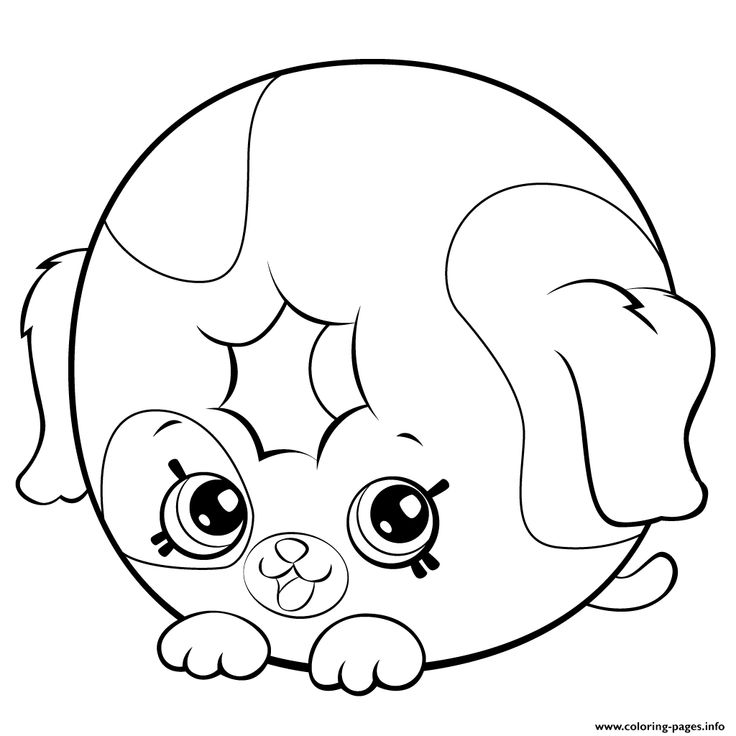 Print Cute Donut Dog Printable shopkins season 5 coloring pages Coloriage Coloriage kawaii
