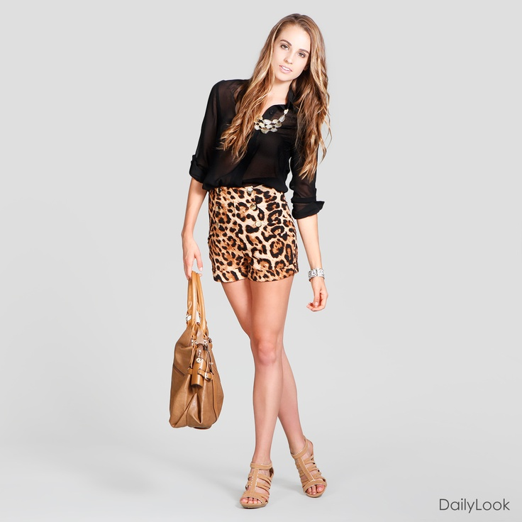 thanks dailylook; now i know how to style my leopard print shorts i just got. cute