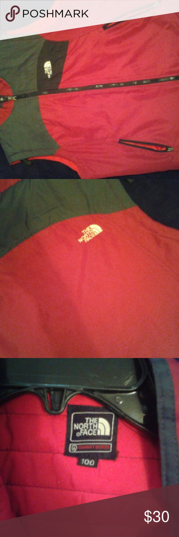 Authentic North Face Vest Red and Grey North Face vest North Face Jackets & Coats Vests