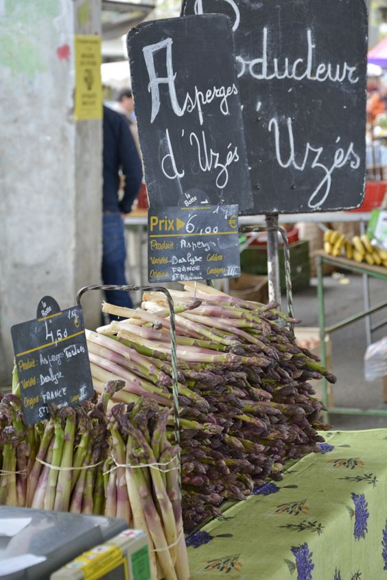 Nothing beats shopping at a French market in the Spring time. www.cooknwithclass-uzes.com