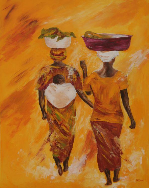 Genoeg Afbeeldingsresultaat voor schilderijen van afrikaanse vrouwen @WZ54