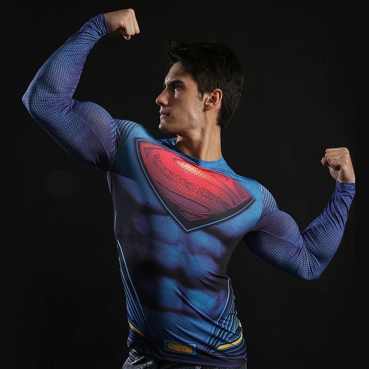 Compresión camisa batman vs superman 3d camisetas impresas hombres raglan manga larga cosplay fit clothing tops gimnasio masculinos en Camisetas de Ropa y Accesorios en AliExpress.com | Alibaba Group