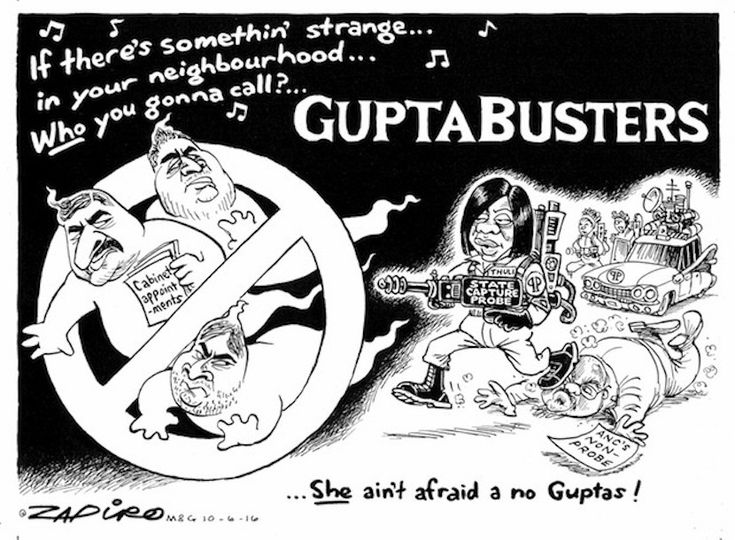 Eskom advances R578m to Gupta-owned mine after fining previous owners R2bn.  Once again SA's leading cartoonist nails it. For more Zapiro magic, click here.