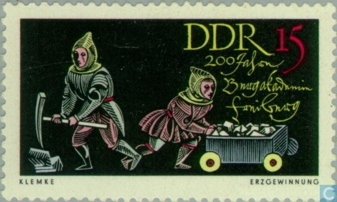 Werner Klemke - Briefmarken - DDR - Freiberg Bergschule 1765-1965