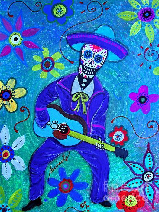 MARIACHI GUITAR PLAYER, day of the dead mariachi, mariachi, guitar, gitarero, musician, musikero,love art folk mexican sun moon and couple lovers wedding christ christian prisarts pristine filipino pinoy abstract best great gift cool present birthday housewarming christmas birthday his her mom dad work  friend wedding matrimonio, kasal philippines, pinoy, filipino artist, calaca calavera couple love lovers popular best seller selling cool art  PRINT