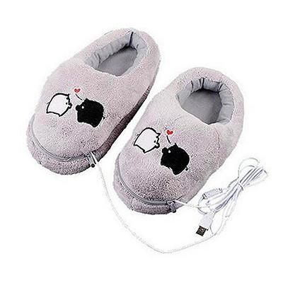 PIGGY PLUSH USB HEATED SLIPPERS/FOOT WARMERS