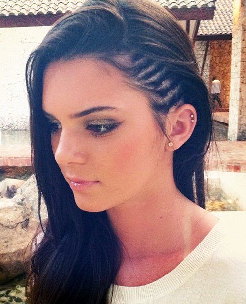 Faux Undercut style side braids