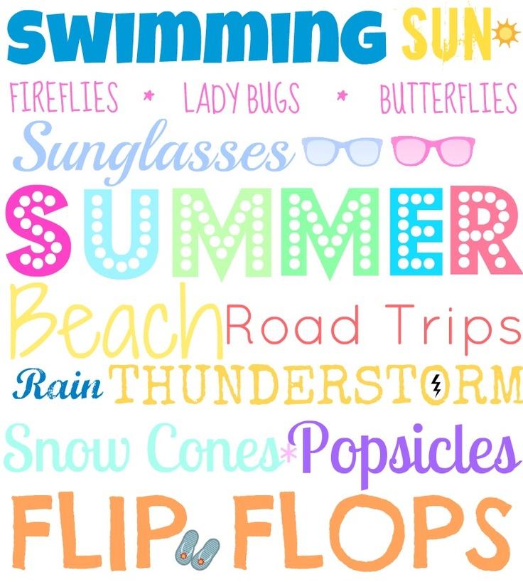 Summer Printable Subway Art