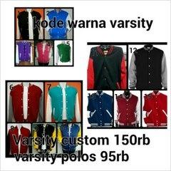 Kode warna varsity || Size: M-XXL || Varsity custom: Rp 150.000, Varsity polos: Rp 95.000