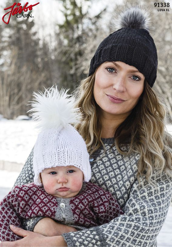 Knit trendy winter tassel hats with our Luva XL DIY-kits!