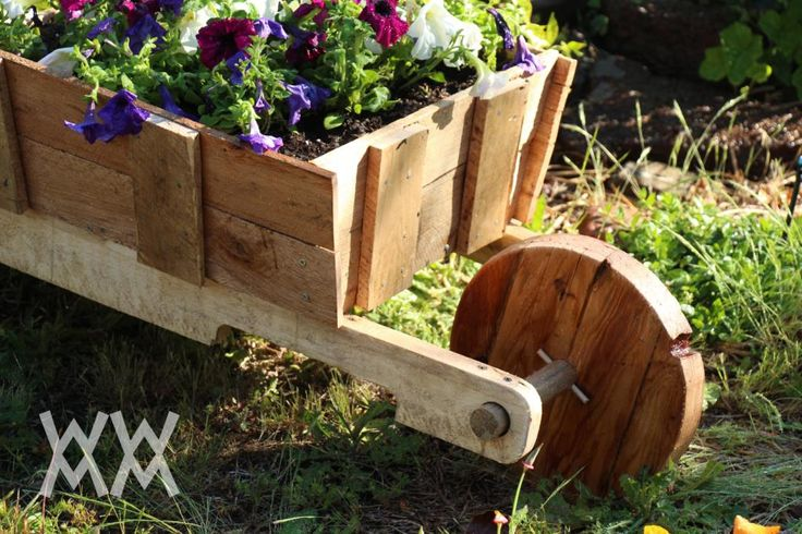 Wooden Wheelbarrow Made From Free Pallet Wood Great