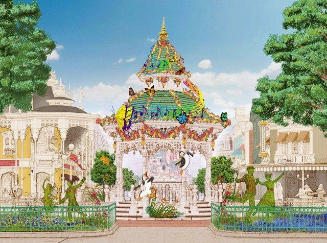 Disneyland Paris Spring Festival concept art - Swing into Spring