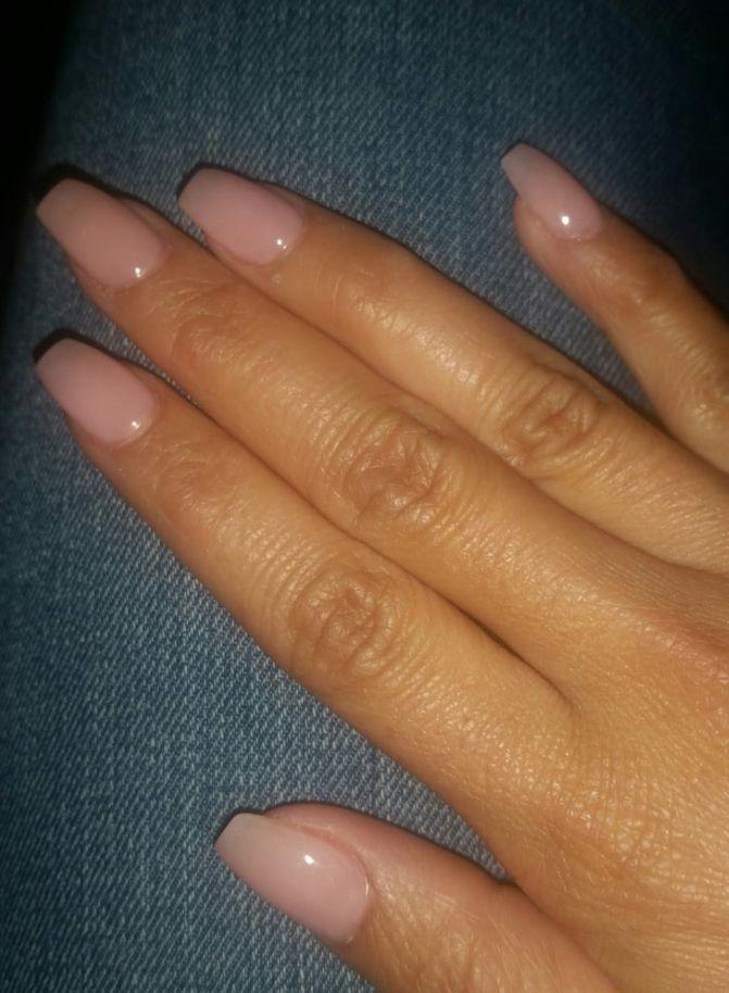 Translucent Pink Nails Short Acrylic Nails Short Coffin Nails Natural Acrylic Nails