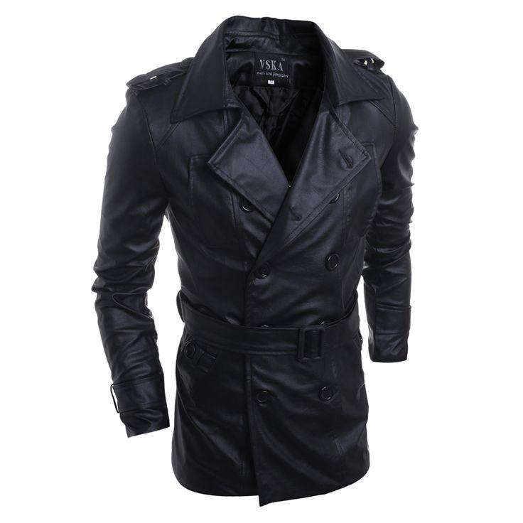 nieuwe mode bovenkleding rende motorfiets mannen pu lederen jassen water wassen warme winter militaire vintage heren trenchcoat in van jassen op AliExpress.com | Alibaba Groep
