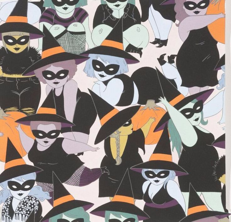 Saucy, curvaceous witches in various outfits on a pale blush pink background.I can imagine a saucy, fun Halloween dress made up in this beauty! Uses: crafts, quilting, dressmaking, bags, home decor etcFabric type: medium / quilt weight cottonFire content: 100% cottonFabric width: approx 112cm / 44 inches If you order a single 1/4 metre it will be cut as a fat quarter. Multiple units will be cut in one continuous piece see guidePrice per metre £12.80Product code:&n...