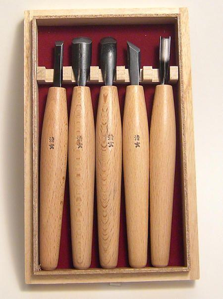 Kawasei set of small japanese carving tools