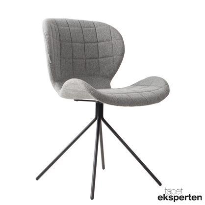 Oh my God - spisebordsstol grå  Lækker stol med flot ensfarvet betræk (100% polyester) Stolen kan anvendes som både spisestuestol, kontorstol og stand-alone chair.  Den er behagelig at sidde i, og man kan nemt opholde sig ved bordet i mange timer med denne stol.